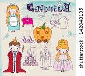 cinderella fairytale characters ... | Shutterstock .eps vector #142048135