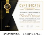 certificate template with... | Shutterstock .eps vector #1420484768
