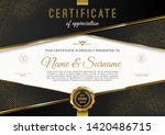 certificate template with... | Shutterstock .eps vector #1420486715