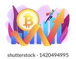 virtual money capitalization... | Shutterstock .eps vector #1420494995