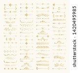 set of hand drawn golden... | Shutterstock .eps vector #1420495985