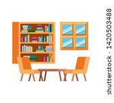 living room with couch and...   Shutterstock .eps vector #1420503488