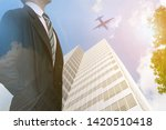 businessman leadership in a... | Shutterstock . vector #1420510418