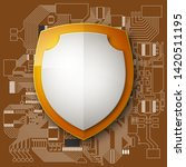 protected guard shield circuit... | Shutterstock .eps vector #1420511195