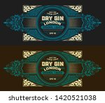 vintage label with gin liquor... | Shutterstock .eps vector #1420521038