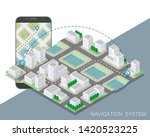 city map route navigation...   Shutterstock .eps vector #1420523225
