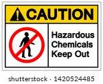 caution hazardous chemicals...   Shutterstock .eps vector #1420524485
