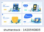 set of landing page template... | Shutterstock .eps vector #1420540805