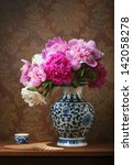 Still Life With Peonies In A...