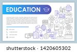 education banner  business card ...