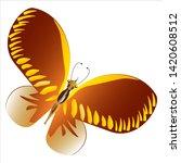 beautiful yellow butterflies ... | Shutterstock .eps vector #1420608512