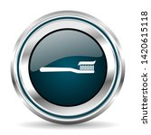 toothbrush vector icon. chrome...   Shutterstock .eps vector #1420615118