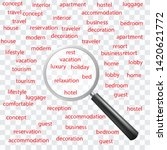 search word hotel  | Shutterstock .eps vector #1420621772