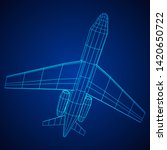 private jet plane abstract... | Shutterstock .eps vector #1420650722