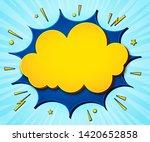 comics background. cartoon... | Shutterstock .eps vector #1420652858