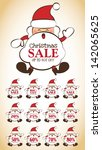 christmas sale design | Shutterstock .eps vector #142065625