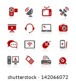 communication icons    redico... | Shutterstock .eps vector #142066072