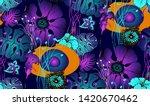 fantastic flowers. seamless... | Shutterstock .eps vector #1420670462