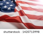 american flag waving in the... | Shutterstock . vector #1420713998