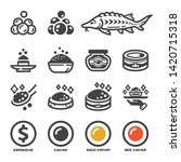 carviar and product icon set... | Shutterstock .eps vector #1420715318