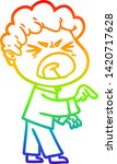 rainbow gradient line drawing... | Shutterstock .eps vector #1420717628