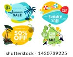 set of summer sale labels and...