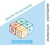 welcome back to school.... | Shutterstock .eps vector #1420766048