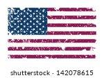 Grungy Usa Flag. Vector...