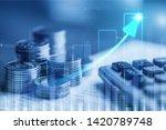 double exposure of rows of... | Shutterstock . vector #1420789748
