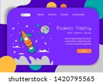 website landing home page with...