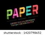 origami style font design ... | Shutterstock .eps vector #1420798652
