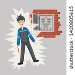 work safety and accident.... | Shutterstock .eps vector #1420805615