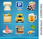 travel icon set 1 | Shutterstock .eps vector #142081462