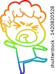 rainbow gradient line drawing... | Shutterstock .eps vector #1420820528