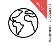 worldwide icon. outline style... | Shutterstock .eps vector #1420826942