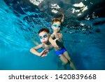 two beautiful sports little... | Shutterstock . vector #1420839668