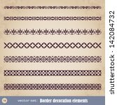 border decoration elements set... | Shutterstock .eps vector #142084732