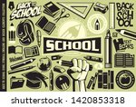 back to school set of icons ... | Shutterstock .eps vector #1420853318