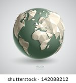 vector world globe illustration ... | Shutterstock .eps vector #142088212