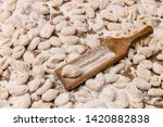 handmade gnocchi  on the table. | Shutterstock . vector #1420882838