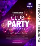 party flyer poster. futuristic... | Shutterstock .eps vector #1420926578