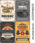 music and sound recording... | Shutterstock .eps vector #1420948655