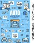 car service  mechanic auto...   Shutterstock .eps vector #1420948682