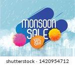 illustration of monsoon sale... | Shutterstock .eps vector #1420954712