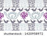 ethnic design. ikat seamless... | Shutterstock .eps vector #1420958972