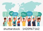 group of young people with...   Shutterstock .eps vector #1420967162