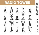 Radio Towers And Masts Vector...