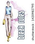 beautiful young women  in a... | Shutterstock .eps vector #1420982795
