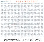 set of vector line icons of... | Shutterstock .eps vector #1421002292