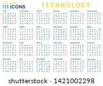 a big set of technology linear... | Shutterstock .eps vector #1421002298